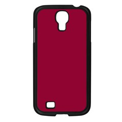 Burgundy Solid Color  Samsung Galaxy S4 I9500/ I9505 Case (black) by SimplyColor