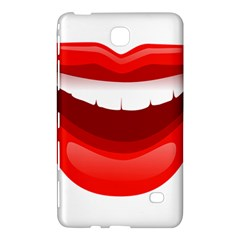 Smile Lips Transparent Red Sexy Samsung Galaxy Tab 4 (7 ) Hardshell Case  by Mariart