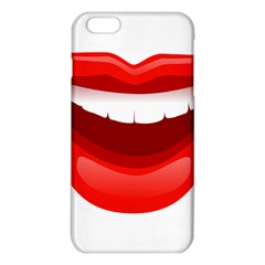 Smile Lips Transparent Red Sexy Iphone 6 Plus/6s Plus Tpu Case by Mariart
