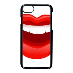 Smile Lips Transparent Red Sexy Apple Iphone 7 Seamless Case (black)