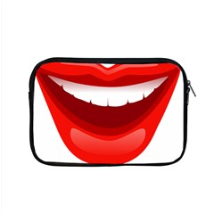 Smile Lips Transparent Red Sexy Apple Macbook Pro 15  Zipper Case by Mariart