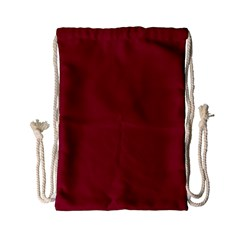 Burgundy Solid Color  Drawstring Bag (small) by SimplyColor
