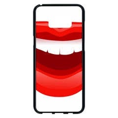 Smile Lips Transparent Red Sexy Samsung Galaxy S8 Plus Black Seamless Case by Mariart
