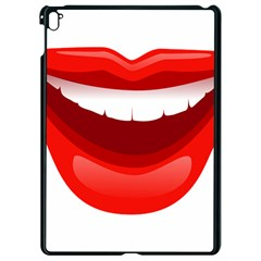 Smile Lips Transparent Red Sexy Apple Ipad Pro 9 7   Black Seamless Case