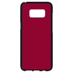 Burgundy Solid Color  Samsung Galaxy S8 Black Seamless Case by SimplyColor