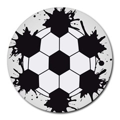 Soccer Camp Splat Ball Sport Round Mousepads by Mariart