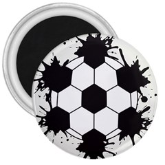 Soccer Camp Splat Ball Sport 3  Magnets by Mariart