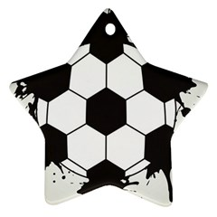 Soccer Camp Splat Ball Sport Ornament (star) by Mariart