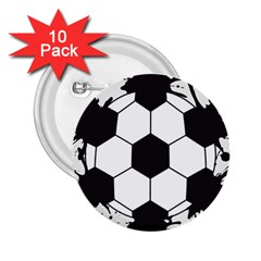 Soccer Camp Splat Ball Sport 2 25  Buttons (10 Pack)  by Mariart