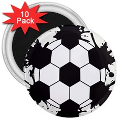 Soccer Camp Splat Ball Sport 3  Magnets (10 Pack)  by Mariart