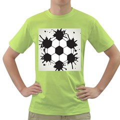 Soccer Camp Splat Ball Sport Green T Shirt by Mariart