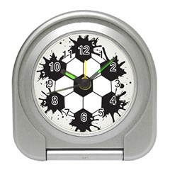 Soccer Camp Splat Ball Sport Travel Alarm Clocks by Mariart