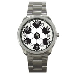 Soccer Camp Splat Ball Sport Sport Metal Watch by Mariart