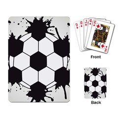 Soccer Camp Splat Ball Sport Playing Card by Mariart