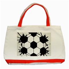 Soccer Camp Splat Ball Sport Classic Tote Bag (red)