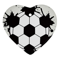 Soccer Camp Splat Ball Sport Heart Ornament (two Sides) by Mariart