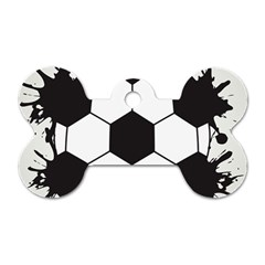 Soccer Camp Splat Ball Sport Dog Tag Bone (two Sides)