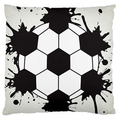 Soccer Camp Splat Ball Sport Large Cushion Case (one Side) by Mariart