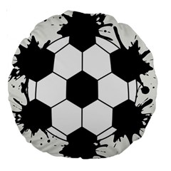 Soccer Camp Splat Ball Sport Large 18  Premium Round Cushions by Mariart