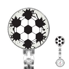 Soccer Camp Splat Ball Sport Stainless Steel Nurses Watch by Mariart