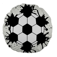 Soccer Camp Splat Ball Sport Large 18  Premium Flano Round Cushions by Mariart