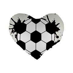 Soccer Camp Splat Ball Sport Standard 16  Premium Flano Heart Shape Cushions by Mariart