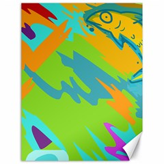 Skatepark Seaworld Fish Canvas 18  X 24   by Mariart