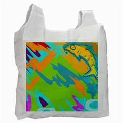 Skatepark Seaworld Fish Recycle Bag (two Side)  by Mariart