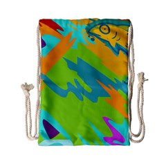 Skatepark Seaworld Fish Drawstring Bag (small)
