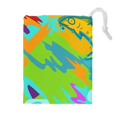 Skatepark Seaworld Fish Drawstring Pouches (extra Large) by Mariart