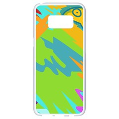 Skatepark Seaworld Fish Samsung Galaxy S8 White Seamless Case by Mariart