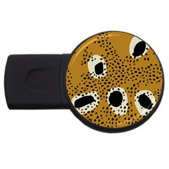 Surface Patterns Spot Polka Dots Black Usb Flash Drive Round (2 Gb) by Mariart