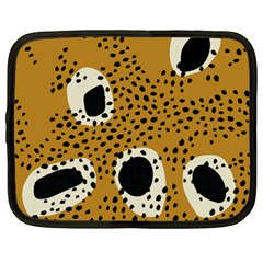 Surface Patterns Spot Polka Dots Black Netbook Case (xl)  by Mariart