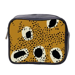 Surface Patterns Spot Polka Dots Black Mini Toiletries Bag 2 Side by Mariart