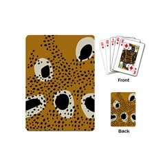 Surface Patterns Spot Polka Dots Black Playing Cards (mini)  by Mariart