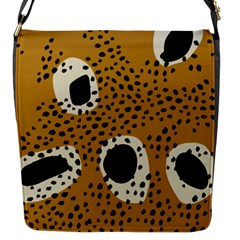 Surface Patterns Spot Polka Dots Black Flap Messenger Bag (s) by Mariart