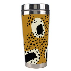 Surface Patterns Spot Polka Dots Black Stainless Steel Travel Tumblers by Mariart