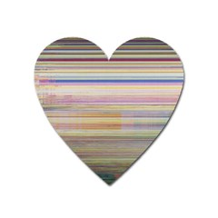Shadow Faintly Faint Line Included Static Streaks And Blotches Color Heart Magnet by Mariart