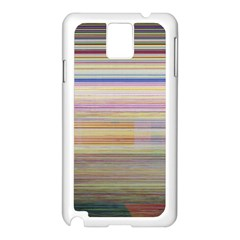 Shadow Faintly Faint Line Included Static Streaks And Blotches Color Samsung Galaxy Note 3 N9005 Case (white) by Mariart