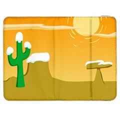 Sunrise Sunset Desert Sun Light Orange Ice Snow Samsung Galaxy Tab 7  P1000 Flip Case by Mariart