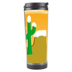 Sunrise Sunset Desert Sun Light Orange Ice Snow Travel Tumbler by Mariart