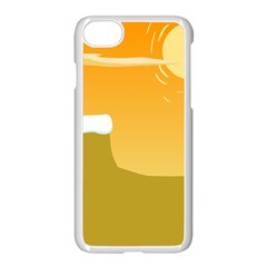 Sunrise Sunset Desert Sun Light Orange Ice Snow Apple Iphone 7 Seamless Case (white) by Mariart