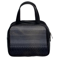 Shadow Faintly Faint Line Included Static Streaks And Blotches Color Gray Classic Handbags (2 Sides) by Mariart