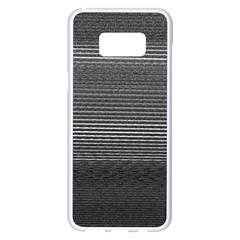 Shadow Faintly Faint Line Included Static Streaks And Blotches Color Gray Samsung Galaxy S8 Plus White Seamless Case