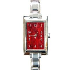 Stone Red Volcano Rectangle Italian Charm Watch by Mariart