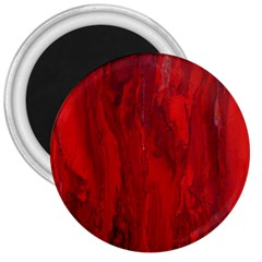 Stone Red Volcano 3  Magnets by Mariart