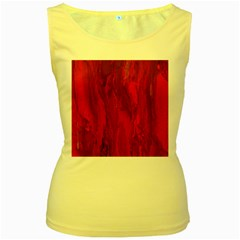 Stone Red Volcano Women s Yellow Tank Top by Mariart