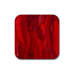 Stone Red Volcano Rubber Square Coaster (4 Pack)  by Mariart