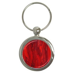 Stone Red Volcano Key Chains (round)  by Mariart