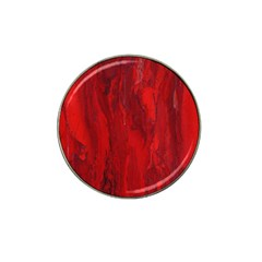 Stone Red Volcano Hat Clip Ball Marker (10 Pack) by Mariart